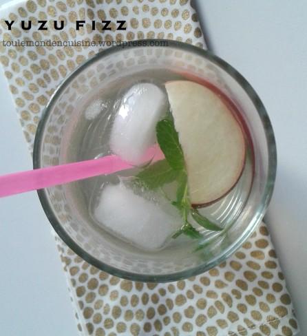 yuzu fizz cocktail